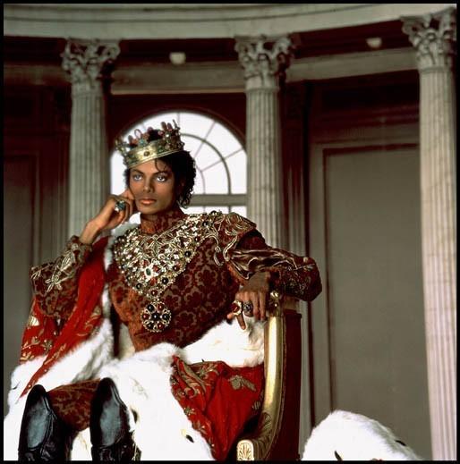 Le king of Pop en 1985...