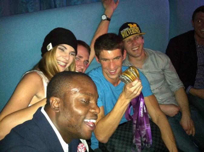 Michael Phelps dans un club de Londres avec sa nouvelle girlfriend le 4 août 2012