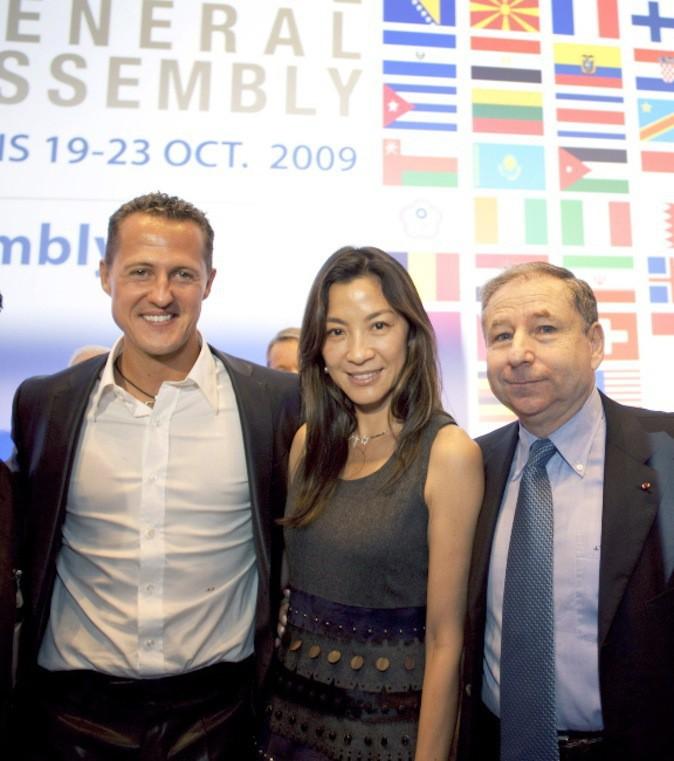 Michael Schumacher est ami avec la star Michelle Yeoh !