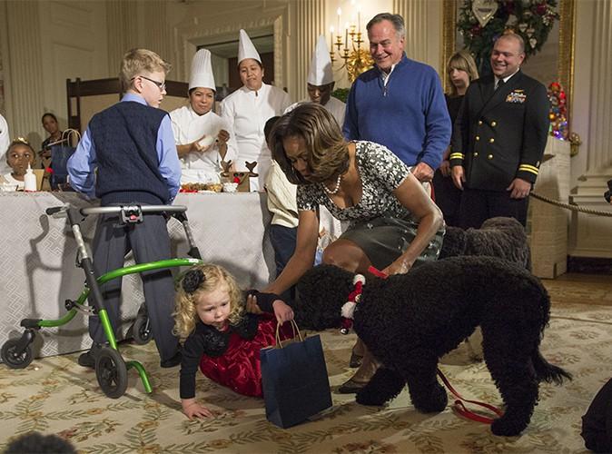 Photos : Michelle Obama : désolée que sa chienne Sunny ait renversé une fillette !