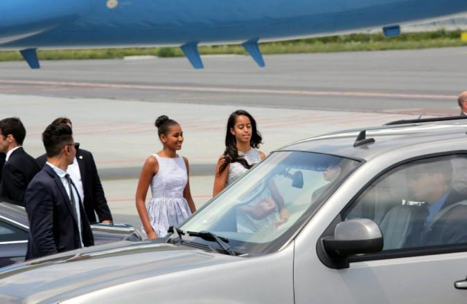 Photos : Michelle Obama et ses filles : trois drôles de dames à Milan !