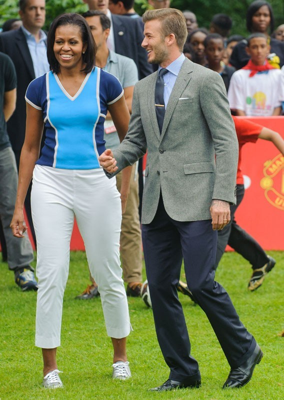 Michelle Obama rejoint David Beckham à Londres