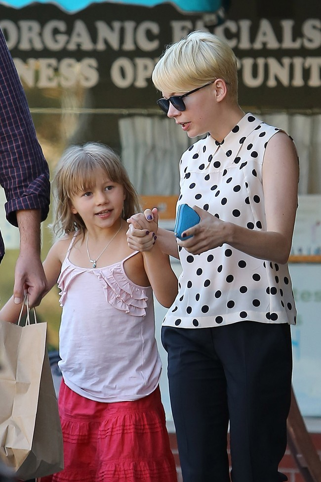 Matilda et Michelle Williams le 27 août 2012 à Los Angeles