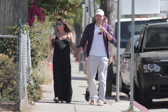 Mila Kunis et Ashton Kutcher à Los Angeles le 17 septembre 2014