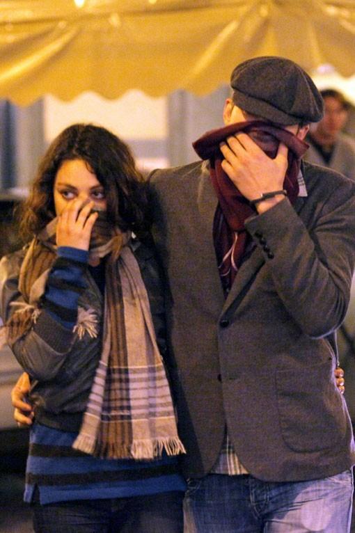 Ashton Kutcher et Mila Kunis à Rome le 19 novembre 2012