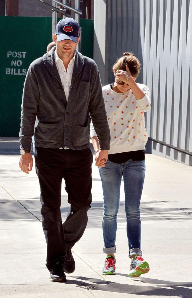 Ashton Kutcher et Mila Kunis à New-York le 19 septembre 2013