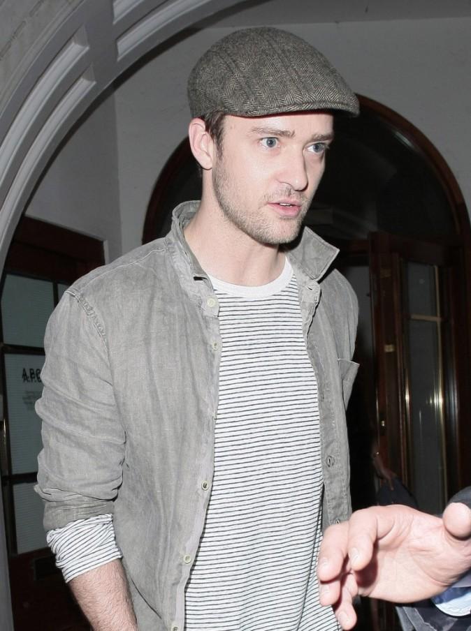 Justin Timberlake sortant du restaurant Nobu à Londres, le 2 août 2011.