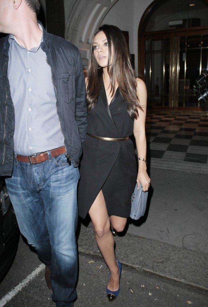 Mila Kunis sortant du restaurant Nobu à Londres, le 2 août 2011.