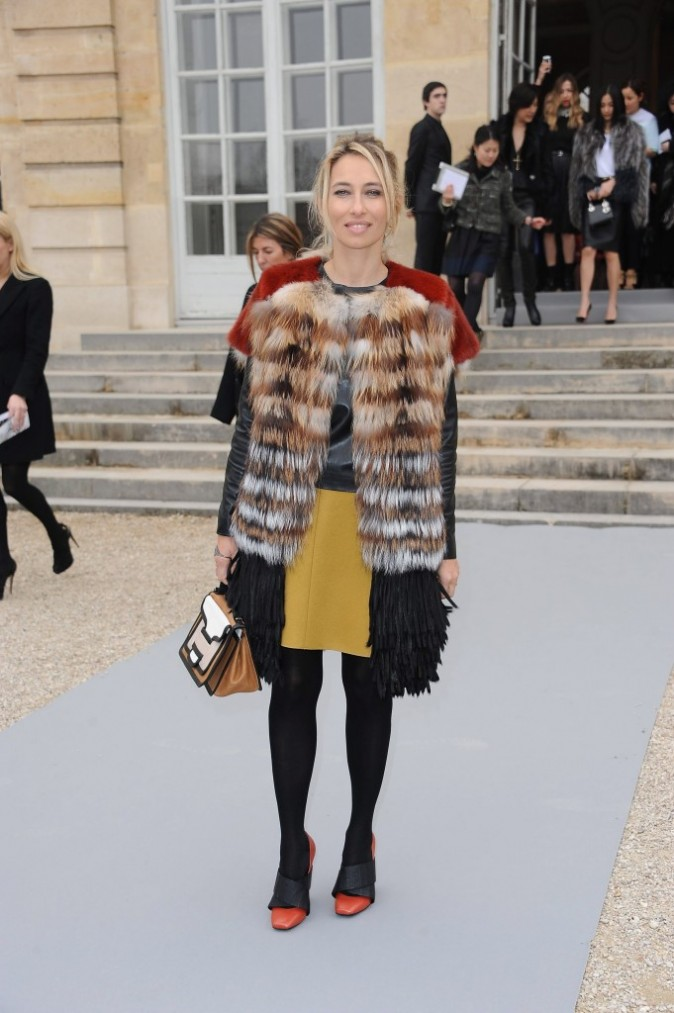 Alexandra Golovanoff au défilé Dior à Paris, le 2 mars 2012.