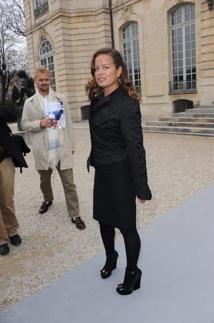 Jade Jagger au défilé Dior à Paris, le 2 mars 2012.