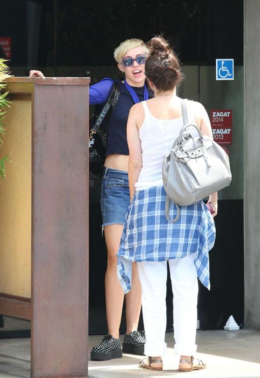 Miley Cyrus à Studio City le 25 août 2014