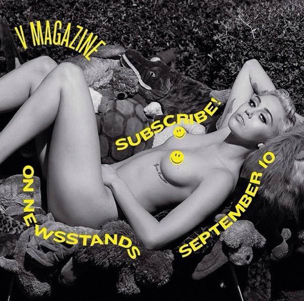 """Photos : Miley Cyrus : elle en dévoile un peu plus sur sa collaboration """"rebelle"""" avec Karl Lagerfeld !"""