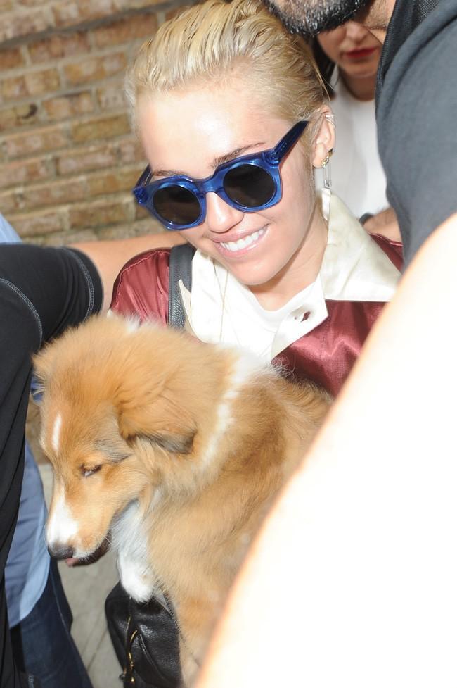 Miley Cyrus à New-York le 1er août 2014