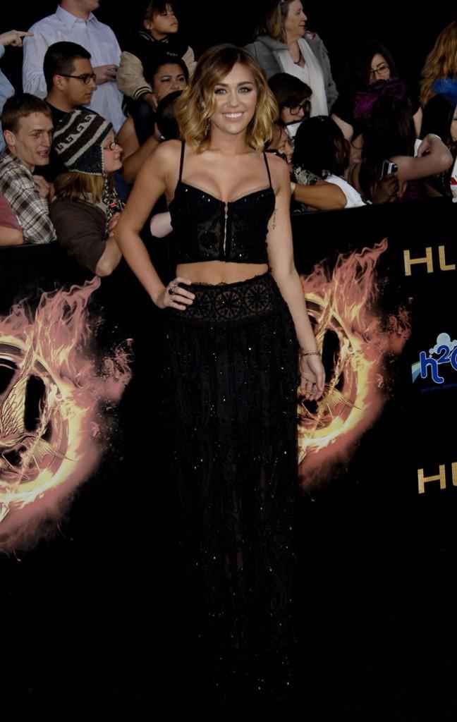Miley Cyrus à l'avant-première d'Hunger Games !