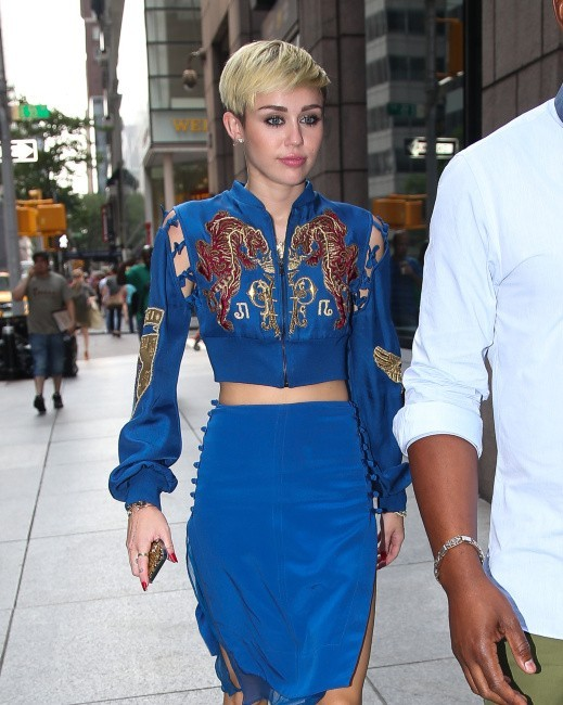 Miley Cyrus en promo à New York, le 27 juin 2013.