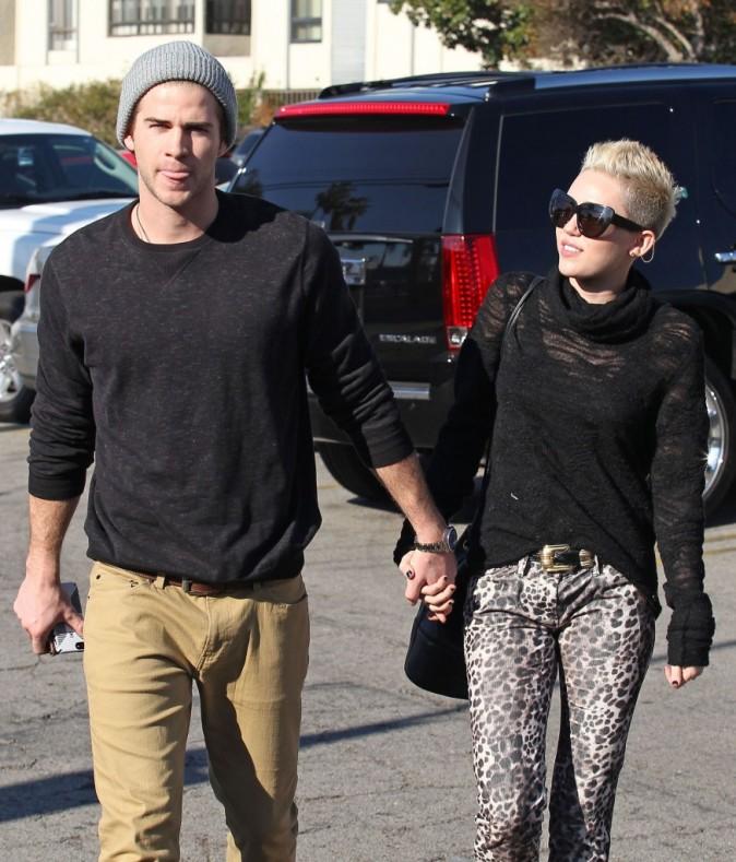 Miley Cyrus et Liam Hemsworth à Los Angeles le 22 décembre 2012