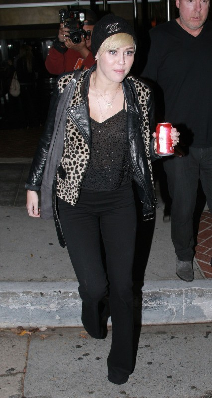 Miley Cyrus à Hollywood, le 10 octobre 2012.
