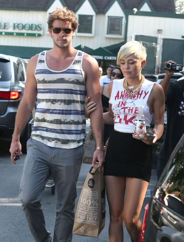 Miley Cyrus et Liam Hemsworth à Studio City le 11 septembre 2012