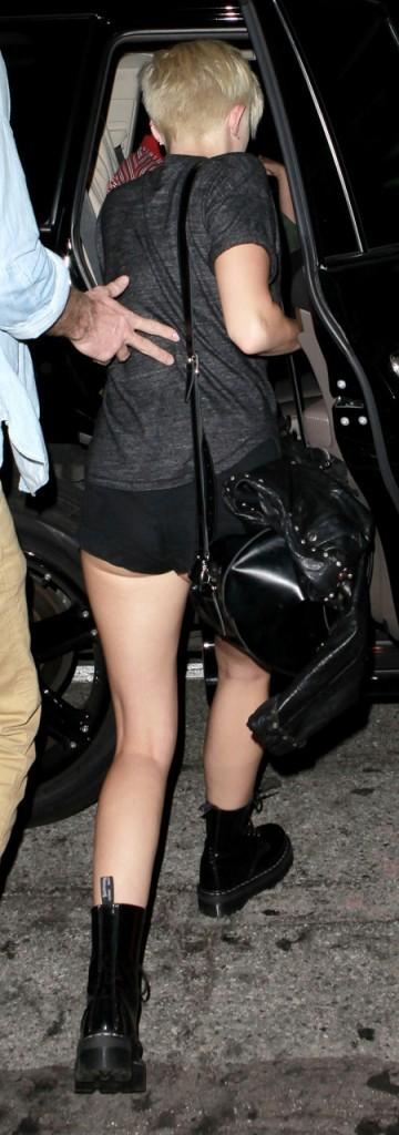 Miley Cyrus le 31 août 2012 à Los Angeles