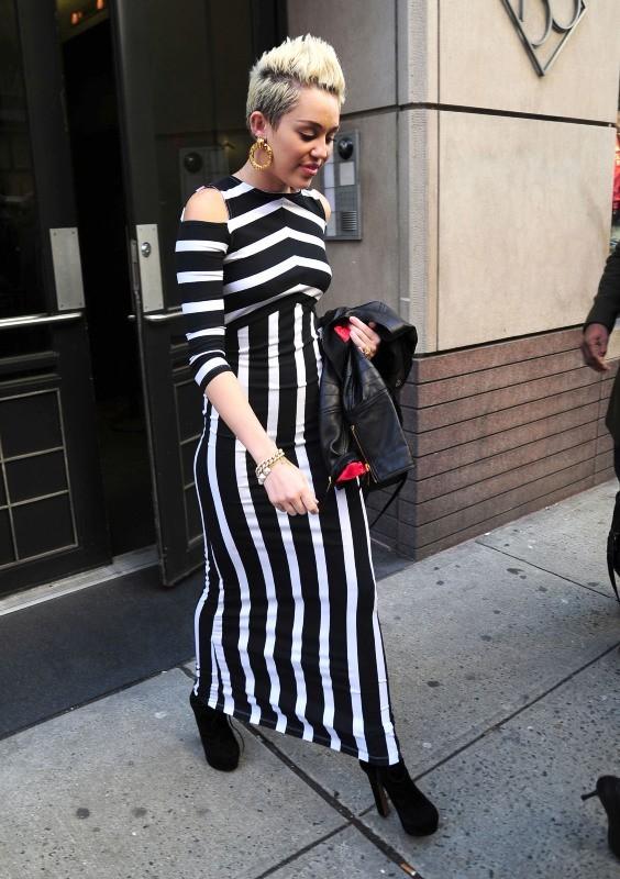 Miley Cyrus en virée à New York, le 14 février 2013.