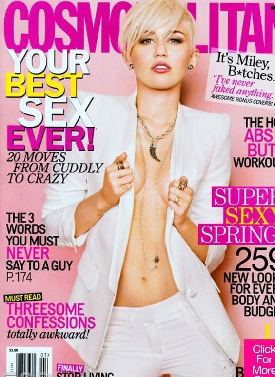 Miley Cyrus en couverture du nouveau numéro de Cosmopolitan