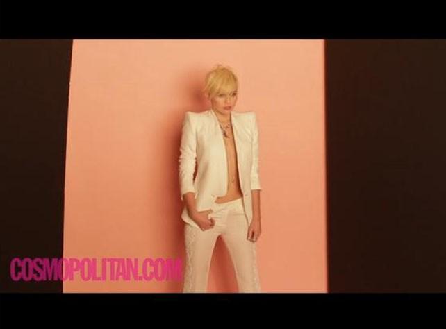 Miley Cyrus et son shooting pour le nouveau numéro de Cosmopolitan