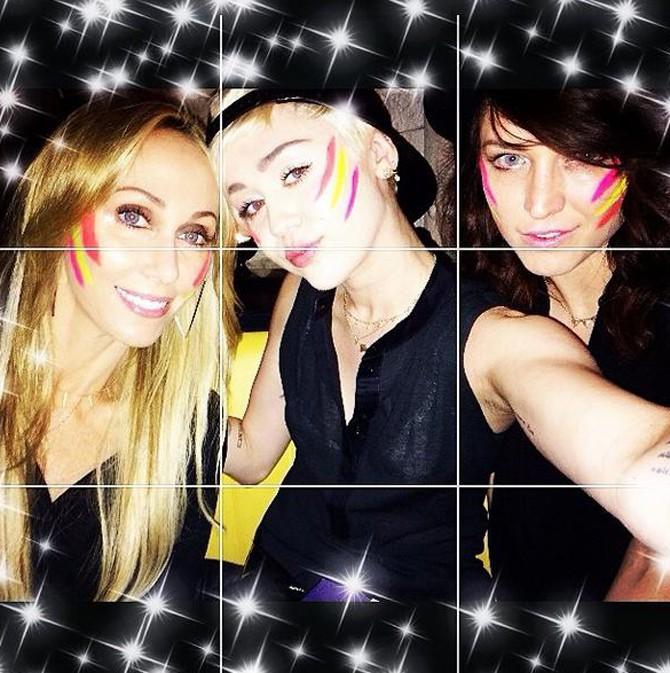 Miley Cyrus a fêté l'anniversaire de sa maman à Manchester le 13 mai 2014