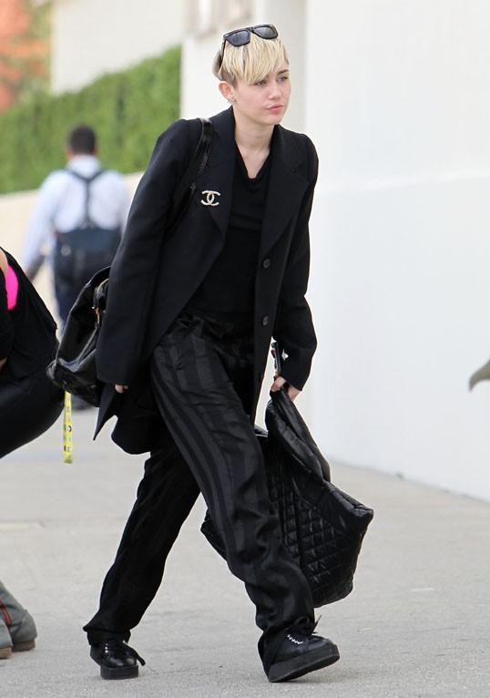 Miley Cyrus de sortie avec sa maman Tish à Los Angeles le 9 janvier 2014