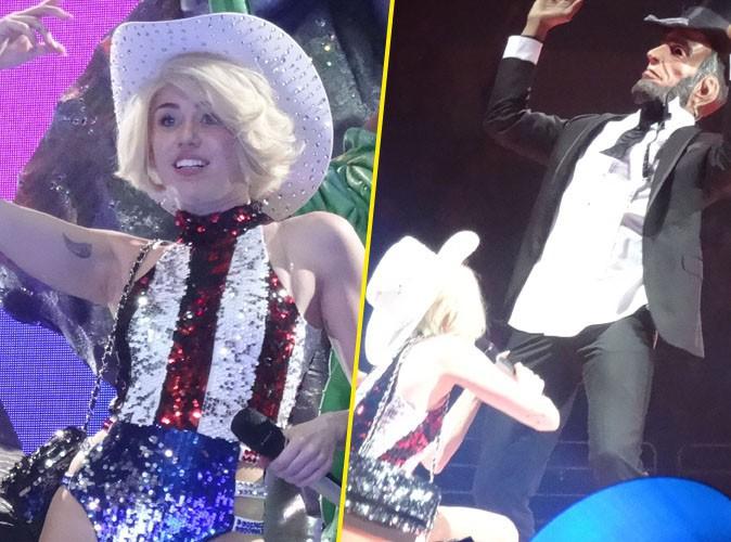 Miley Cyrus : après Bill Clinton, elle s'attaque à Abraham Lincoln dans son Bangerz Tour !