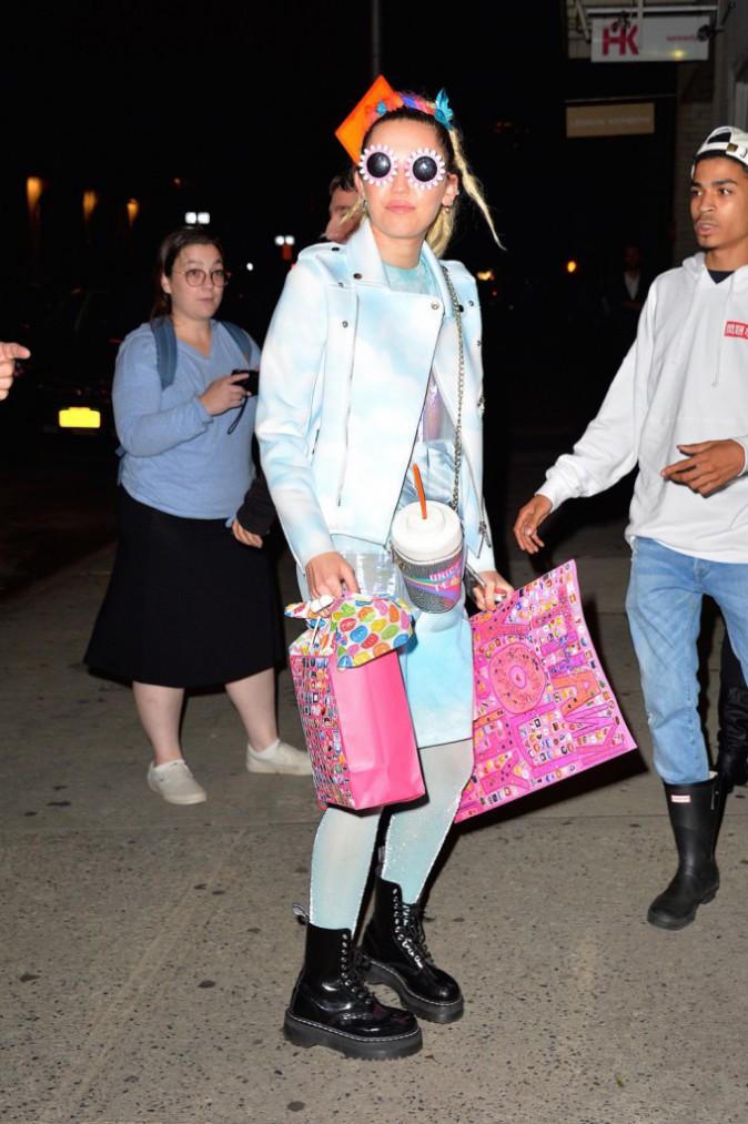 Miley Cyrus à New York le 30 septembre 2015