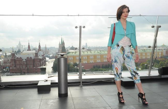 Milla Jovovich, Moscou, 6 septembre 2012.
