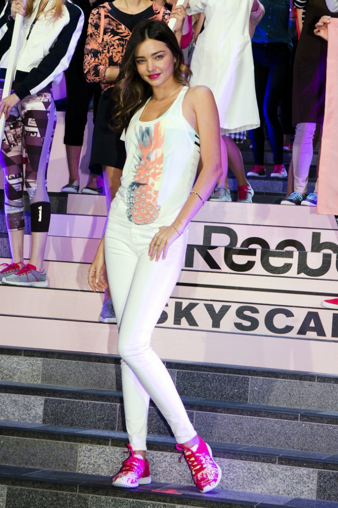 Photos : Miranda Kerr : ambassadrice de charme pour Reebok !