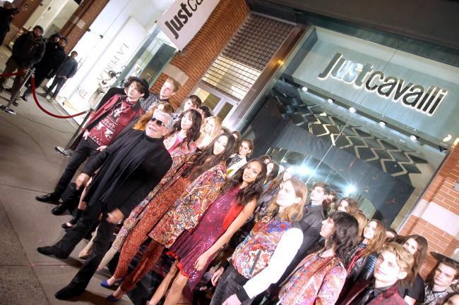 Inauguration de la boutique Just Cavalli à New York, le 12 décembre 2013.