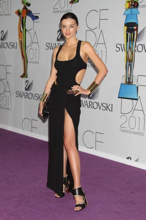 Miranda Kerr lors de la cérémonie des CFDA Fashion Awards à New York, le 7 juin 2011.