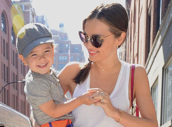 Miranda Kerr et Flynn à New-York le 8 juillet 2013
