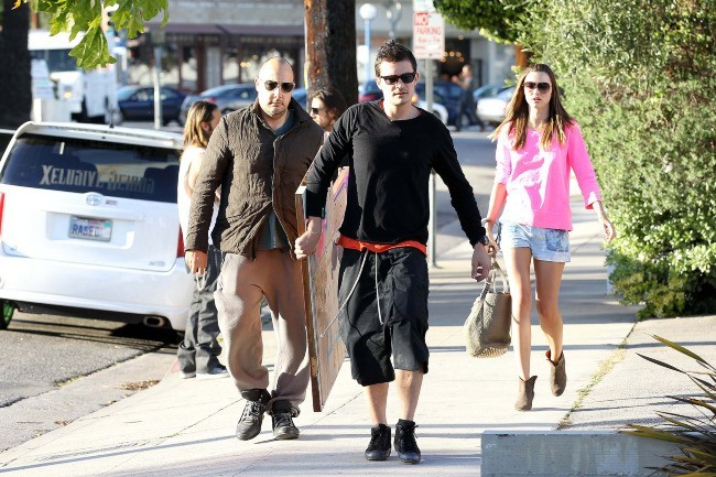 Orlando Bloom et Miranda Kerr en plein shopping à L.A., le 2 avril 2012.
