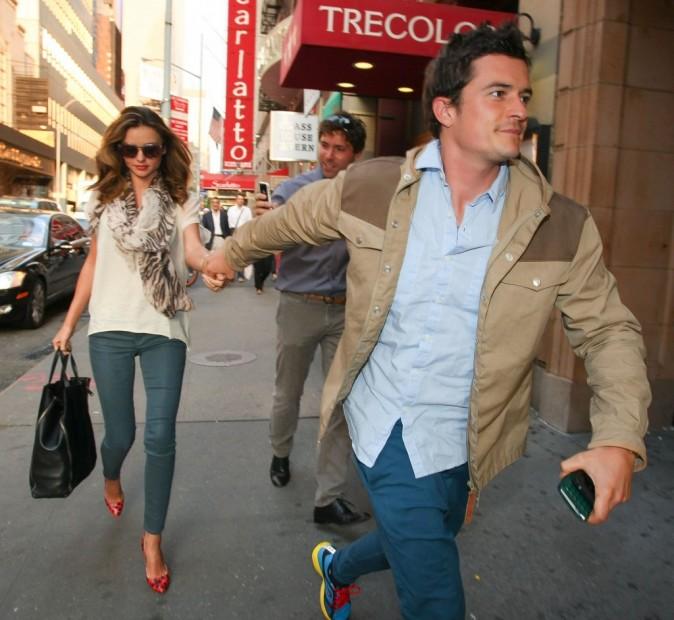 Miranda Kerr et Orlando Bloom dans le quartier de Broadway à New Yorkn le 28 juin 2012.