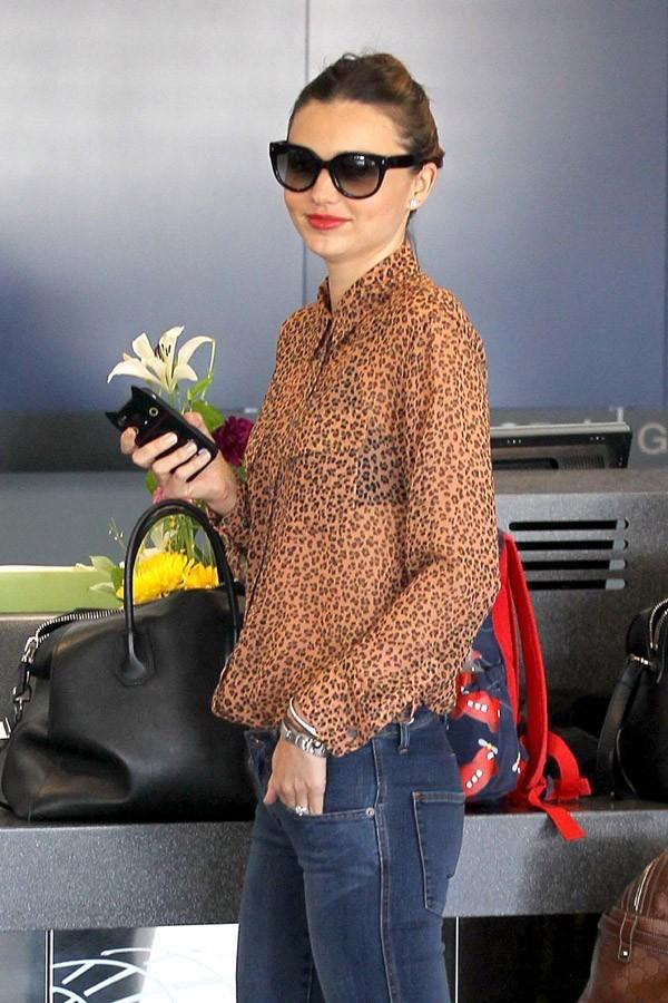 Miranda Kerr et Orlando Bloom à l'aéroport de Los Angeles le 22 janvier 2013