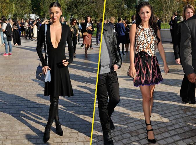 Miranda Kerr et Selena Gomez : apr�s une soir�e de folie, elles s'affichent fra�ches et pimpantes au d�fil� Vuitton !