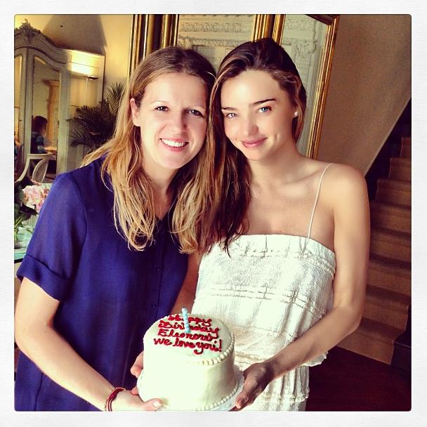 Miranda Kerr à l'anniversaire de son amie Eleonore Lieven à New-York le 16 septembre 2013