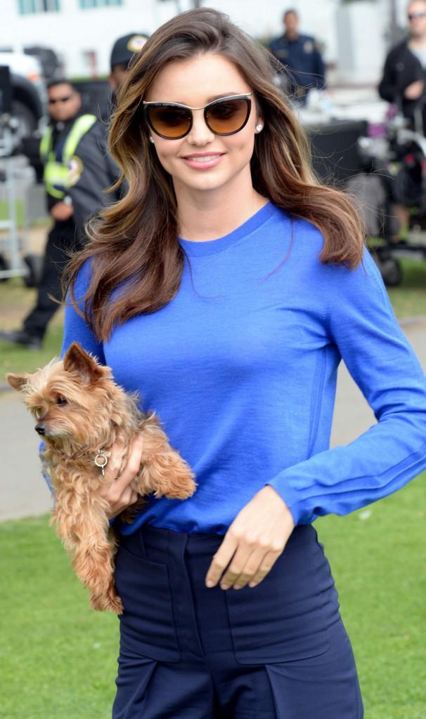 Photos : Miranda Kerr : jamais sans son chien, elle resplendit lors d'un tournage pour une marque japonaise !