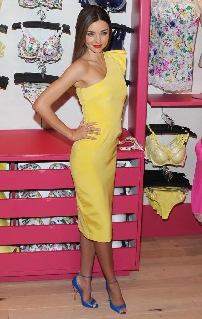Miranda Kerr en promo pour Victoria's Secret à New York, le 25 février 2013.