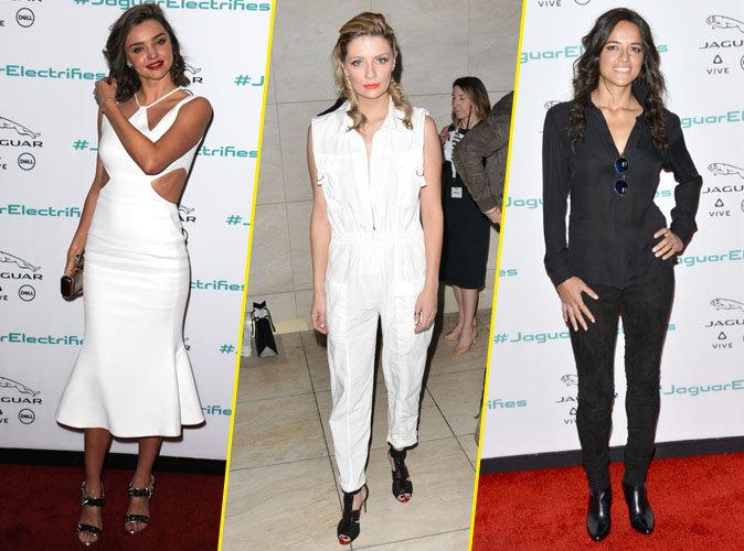 Miranda Kerr, Mischa Barton, Michelle Rodriguez... Qui était la plus féline à la soirée Jaguar ?