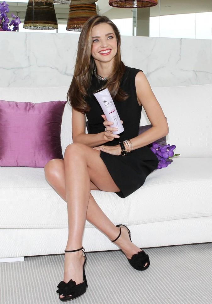 Miranda Kerr en promo pour la marque Clear à Sydney, le 13 février 2013.