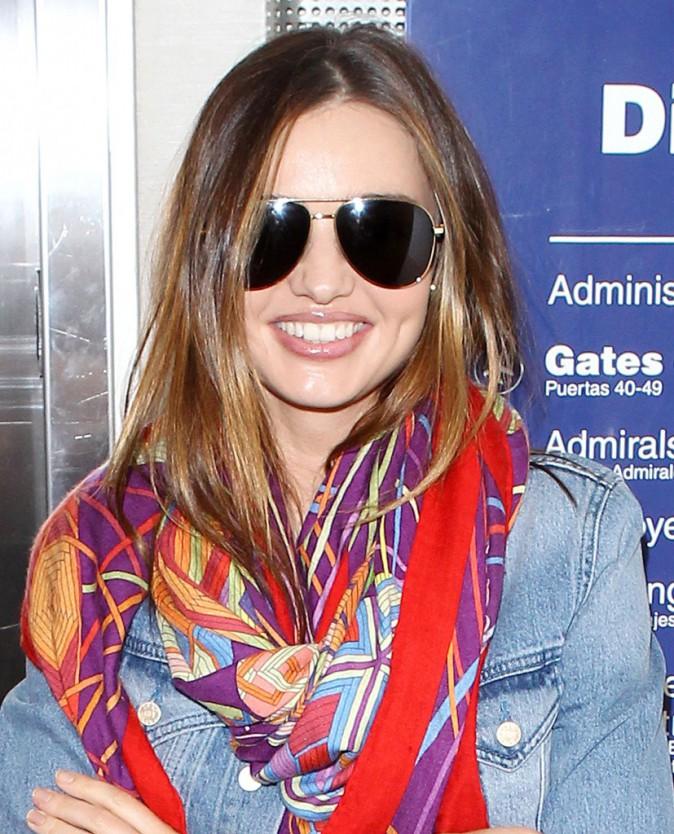 Miranda Kerr à l'aéroport de Los Angeles, le 22 août 2013.