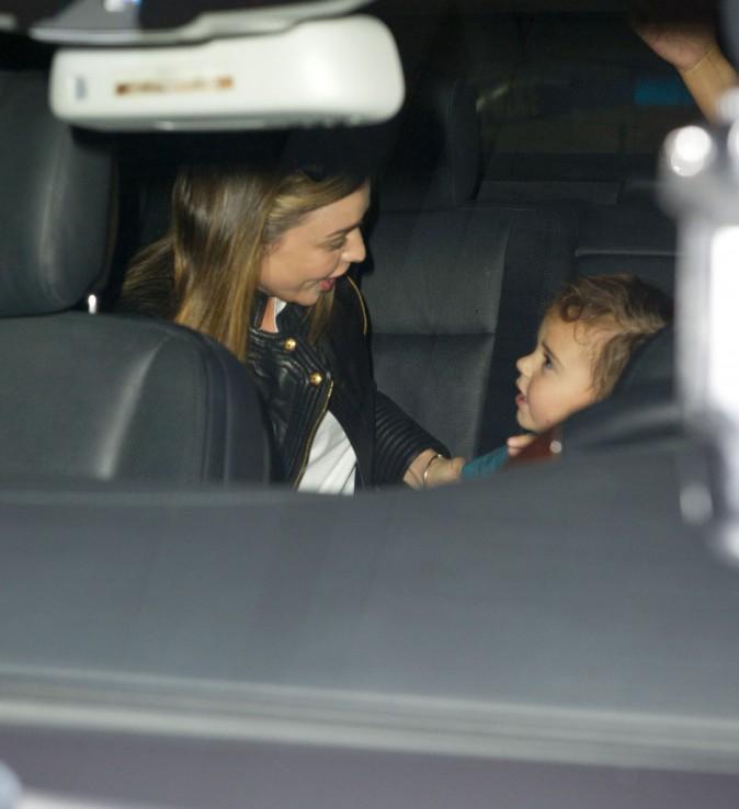Miranda Kerr et son fils Flynn à New York, le 3 octobre 2013.