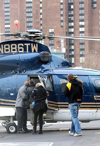 Miranda Kerr et Flynn à New-York le 31 décembre 2013