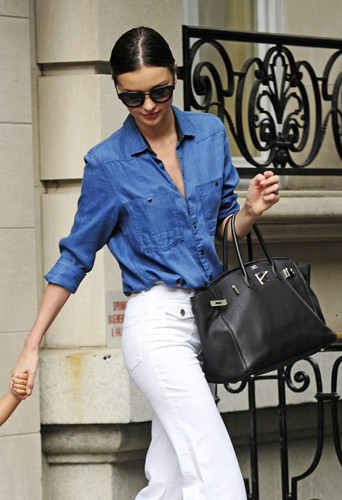 Miranda Kerr à New York le 3 juillet 2014