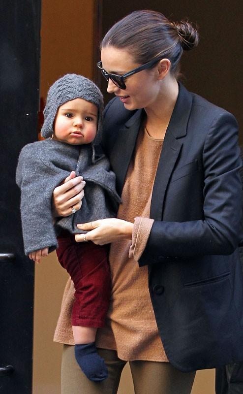 Miranda Kerr avec bébé Flynn hier à New-York !