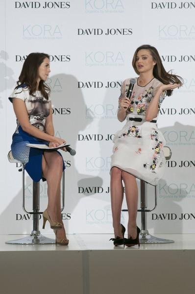 Miranda Kerr en promo pour sa marque de beauté Kora Organics à Sydney, le 20 mai 2014.